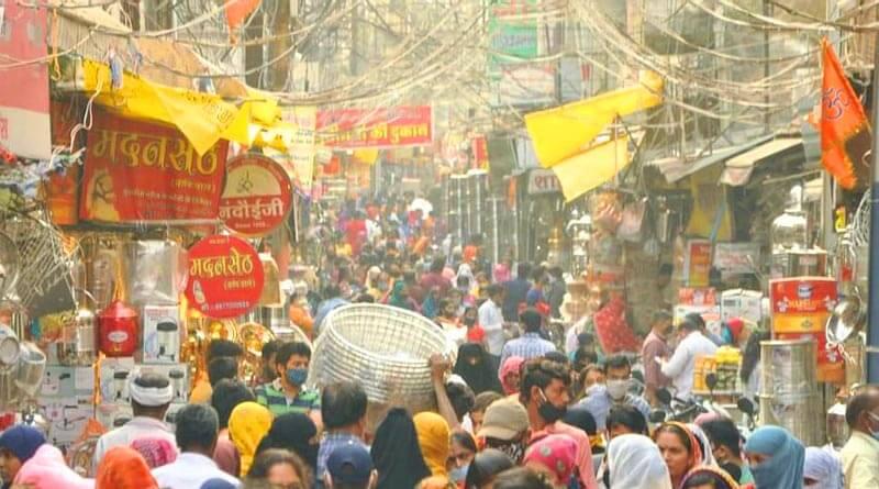 Crowd on diwali